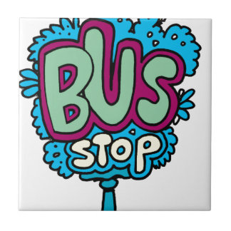 Bus Stop Bird Tiles
