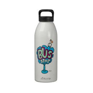 Bus Stop Bird Water Bottles