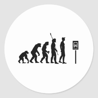 Bus Stop Evolution Classic Round Sticker