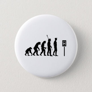 Bus Stop Evolution Pinback Button