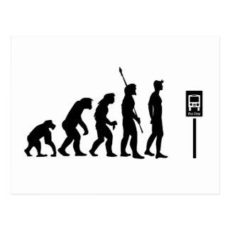 Bus Stop Evolution Postcard
