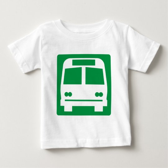 Bus Stop Highway Sign Baby T-Shirt