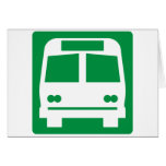 Bus Stop Highway Sign Greeting Cards