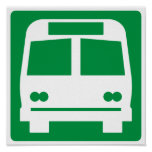 Bus Stop Highway Sign Poster