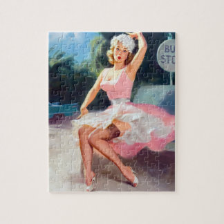Bus Stop Pin Up Jigsaw Puzzle