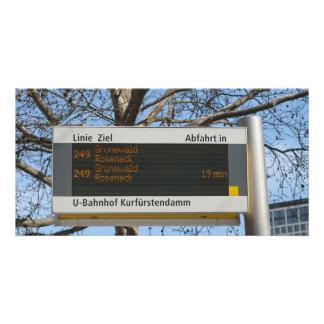 Bus Stop Sign in Berlin Card