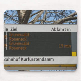 Bus Stop Sign in Berlin Mouse Pad