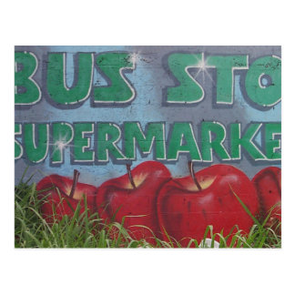 BUS STOP supermarket Postcard