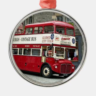 Bus turístico de Edimburgo del vintage, Escocia, Ornamento De Navidad