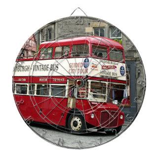 Bus turístico de Edimburgo del vintage, Escocia, Tabla Dardos