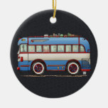 Bus turístico lindo del autobús ornamento para arbol de navidad