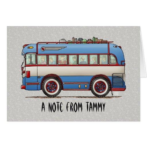 Bus turístico lindo del autobús felicitación