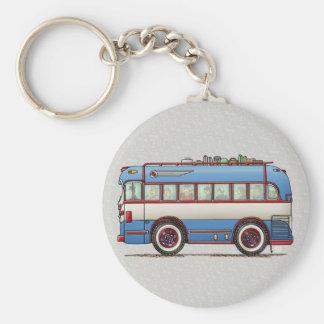 Bus turístico lindo del autobús llavero redondo tipo pin