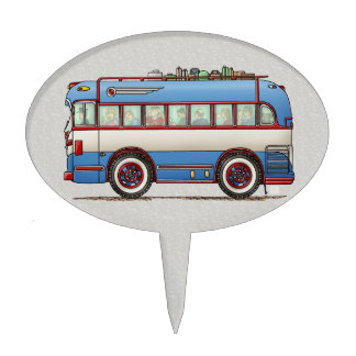 Bus turístico lindo del autobús palillos de tarta