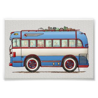 Bus turístico lindo del autobús impresion fotografica