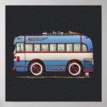Bus turístico lindo del autobús posters