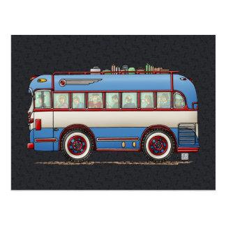 Bus turístico lindo del autobús tarjeta postal