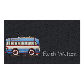 Bus turístico lindo del autobús tarjetas de visita