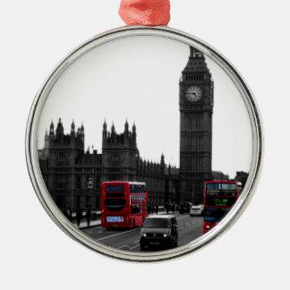 bus turístico rojo y Big Ben de Londres Adornos