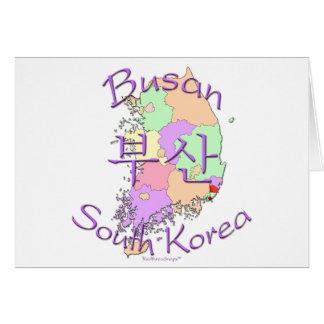 Busan South Korea Card