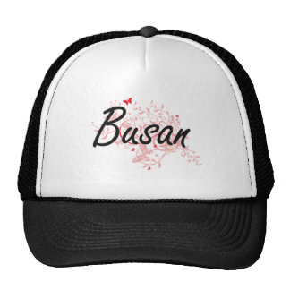 Busan South Korea City Artistic design with butter Trucker Hat