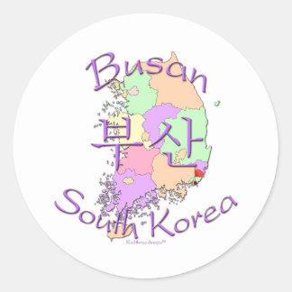 Busan South Korea Round Stickers