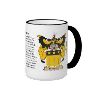 Busby Family Coat of Arms Ringer Mug