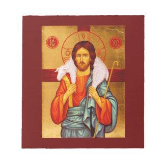 Buscador de Jesús de ovejas perdidas Blocs De Notas