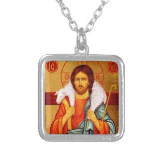 Buscador de Jesús de ovejas perdidas Colgante Cuadrado