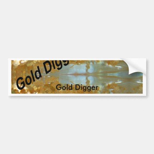 Buscador de oro, buscador de oro pegatina para auto