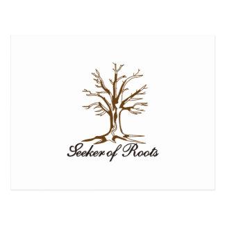 Buscador de raíces tarjetas postales
