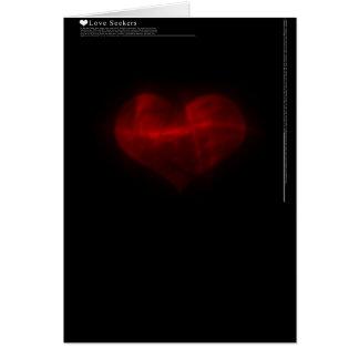 Buscador del amor tarjeta de felicitación