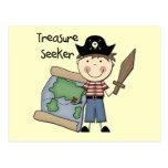 Buscador del tesoro - camisetas y regalos del much tarjetas postales