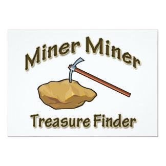 """Buscador del tesoro del minero del minero invitación 5"""" x 7"""""""