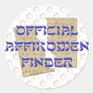 Buscador oficial de Affikomen Pegatina Redonda