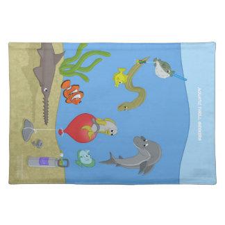 Buscadores acuáticos Placemat de la emoción Manteles Individuales