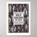 Buscadores de oro de 1933 posters