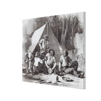 Buscadores de oro de Alexander del soporte en el l Lona Envuelta Para Galerías