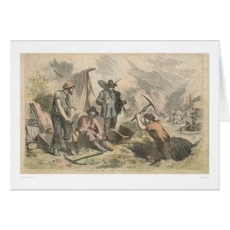 Buscadores de oro de California (2525A) Tarjeta De Felicitación