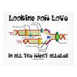 Buscando amor en todos los alelos derechos (DNA) Membrete Personalizado