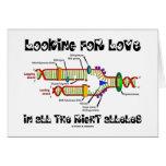Buscando amor en todos los alelos derechos (DNA) Tarjetón