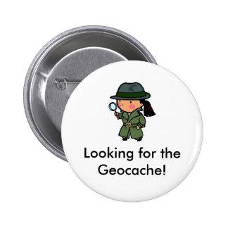 ¡Buscar el Geocache! Pin del Swag