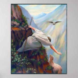 Buscar la pintura de las ovejas en lona poster