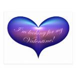 Buscar mi corazón de la tarjeta del día de San Val Tarjeta Postal