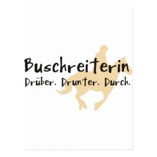 Buschreiterin Postcard