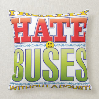 Buses Hate Face Throw Pillow
