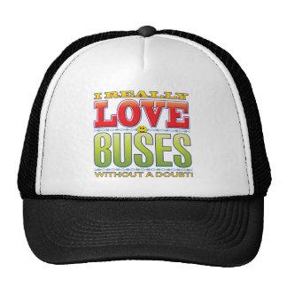 Buses Love Face Trucker Hat