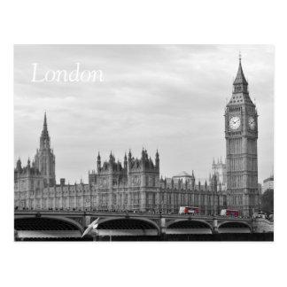 Buses on Westminster Bridge Postcard