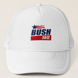 BUSH 2012 CAMPAIGN BANNER TRUCKER HAT