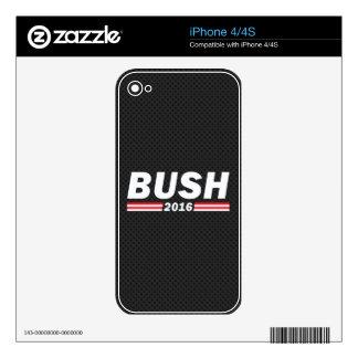 Bush 2016 (Jeb Bush) iPhone 4 Calcomanías